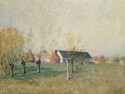 The Farm Poster by Alfred Sisley