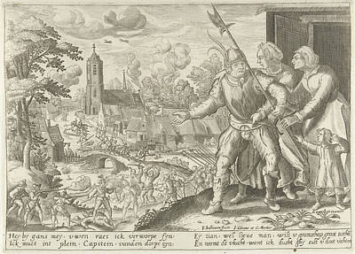 The Farmer Captain Is Prevented From Fighting Poster by Floris Balthasarsz. Van Berckenrode And Johannes Covens And Cornelis Mortier