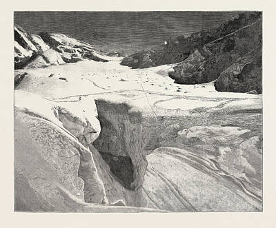 The Fatal Accident On Mont Blanc General View Of The Petit Poster by English School