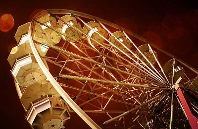 The Ferris Wheel Poster by Bob Pardue