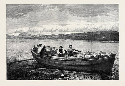 The Ferry Boat 1873 Poster