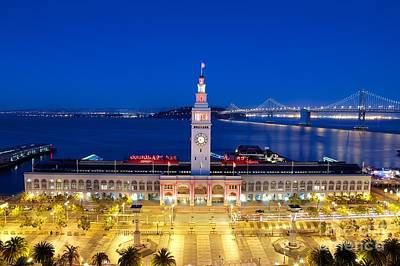 The Ferry Building In Downtown San Francisco Poster by Mel Ashar