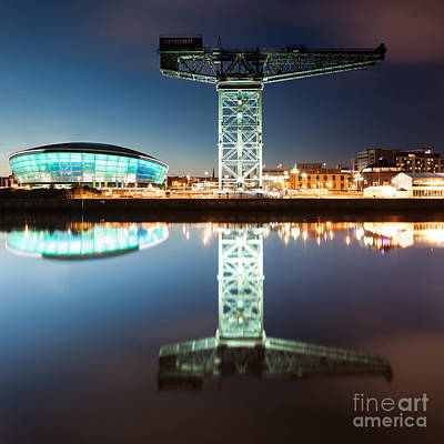 The Finnieston Crane And Hydro Green Poster by John Farnan