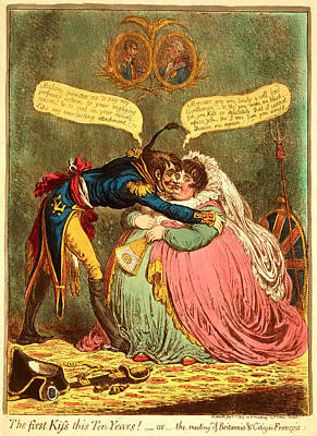 The First Kiss This Ten Years - Or - The Meeting Poster by Litz Collection