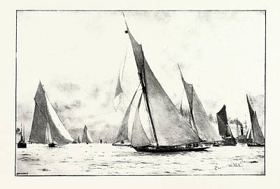 The First Race Of The Royal Thames Yacht Club The Iverna Poster