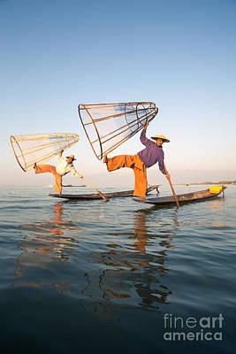 The Fishermen - Inle Lake - Myanmar Poster by Matteo Colombo