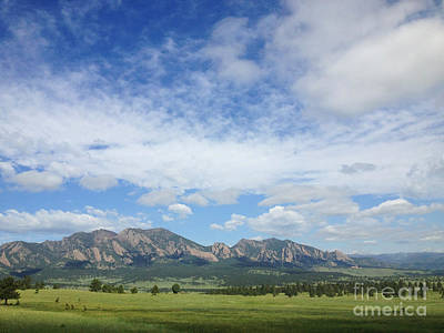 The Flatirons In Spring Poster