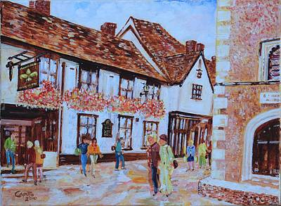 The Fleur De Lyse In St Albans Poster by Giovanni Caputo