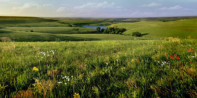 The Kansas Flint Hills From Rosalia Ranch Poster by Rod Seel