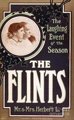 The Flints, American Hypnotists Poster by Photo Researchers