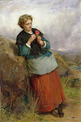 The Flower Of Dunblane, 1867 Oil On Canvas Poster by Thomas Faed