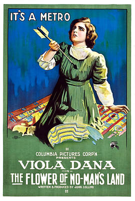 The Flower Of No Mans Land, Viola Dana Poster by Everett