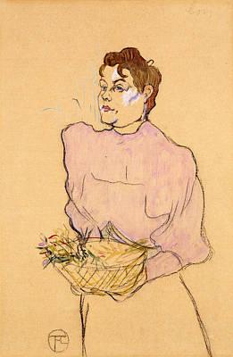 The Flower Seller Poster by Henri de Toulouse-Lautrec