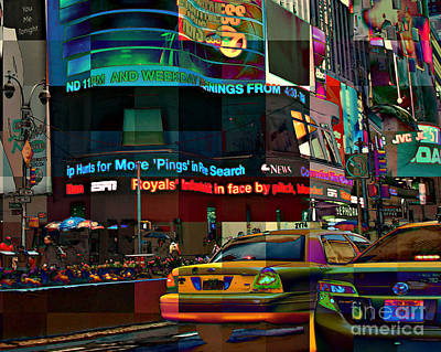 The Fluidity Of Light - Times Square Poster by Miriam Danar