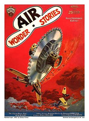 The Flying Buzz Saw Poster by Gary Dow