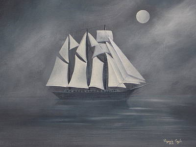 Poster featuring the painting The Fog by Virginia Coyle