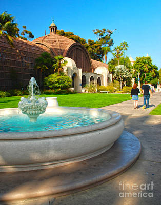 Botanical Building And Fountain At Balboa Park Poster