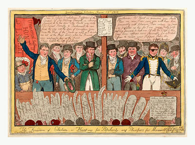 The Freedom Of Election Or Hunt-ing For Popularity Poster by English School