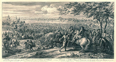 The French Armies Crossing The Rhine At Lobith Poster