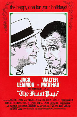 The Front Page, From Left Jack Leommon Poster
