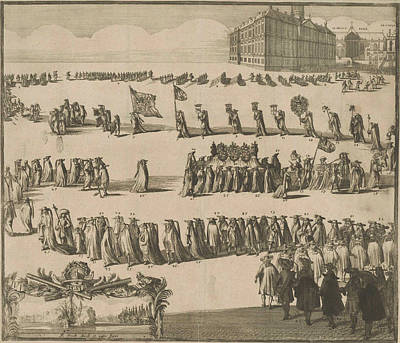 The Funeral Of Michael Adriaansz Poster by Johannes Jacobsz Van Den Aveele