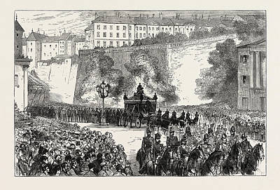 The Funeral Of The Duke Of Brunswick At Geneva Poster by Swiss School