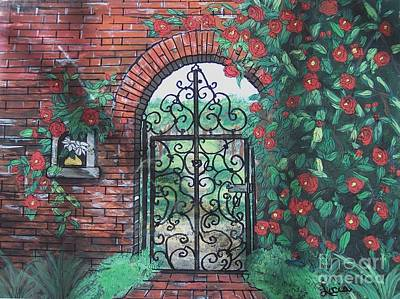 Poster featuring the painting The Garden Gate by Lucia Grilletto