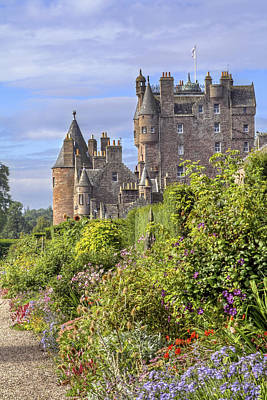 The Garden Of Glamis Castle Poster