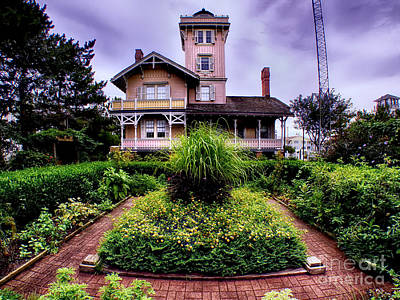 The Gardens Of Hereford Inlet Lighthouse Poster