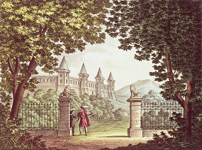 The Gardens Of Windsor Castle, Set Design For The Opera Anna Bolena, Engraved By Ricordi Engraving Poster by Alessandro Sanquirico
