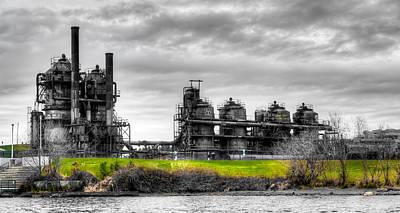 The Gasworks Park On Lake Union - Seattle Washignton Poster by David Patterson