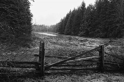 The Gate In Black And White Poster