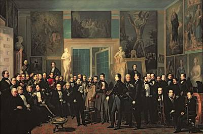 The Gathering Of The Poets, 1846 Oil On Canvas Poster