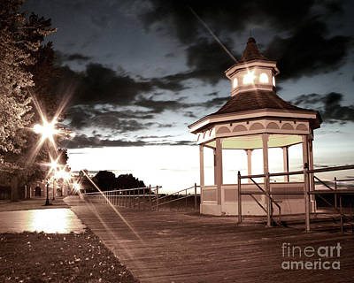 The Gazebo At Night Poster by Jillian Audrey Photography
