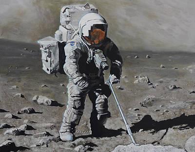 The Geologist- Harrison Schmitt. Apollo 17 Poster by Simon Kregar