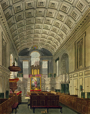 The German Chapel, St. Jamess Palace Poster by Charles Wild