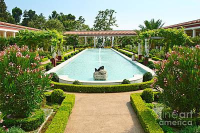 The Getty Villa Main Courtyard. Poster