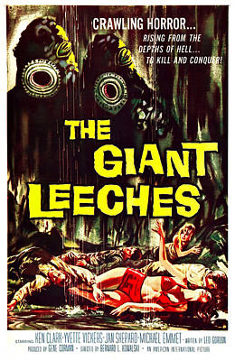 The Giant Leeches, Aka Attack Of The Poster by Everett