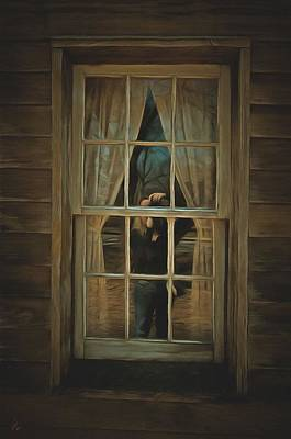 The Girl In The Window  Poster by L Wright