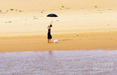 The Girl With The Black Umbrella Poster by Avalon Fine Art Photography
