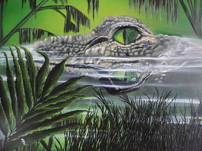 Poster featuring the painting The Glades by Dianna Lewis