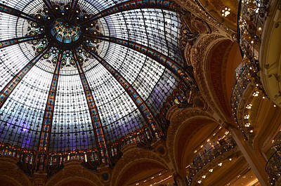 The Glass Dome Of The Galeries Lafayette In Paris Poster by RicardMN Photography