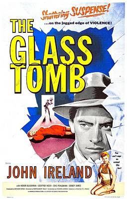 The Glass Tomb, Aka The Glass Cage Poster by Everett