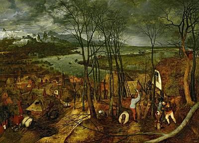 The Gloomy Day - Spring, 1559 Poster by Pieter the Elder Bruegel