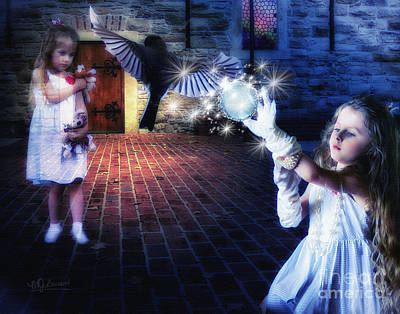 The Glove  The Girl And The Ghost Poster by Warrena J Barnerd