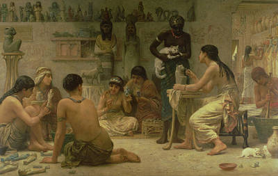 The Gods And Their Makers, 1878 Poster by Edwin Longsden Long
