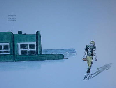 Poster featuring the painting The Gold Has Left Green Bay by Dan Wagner