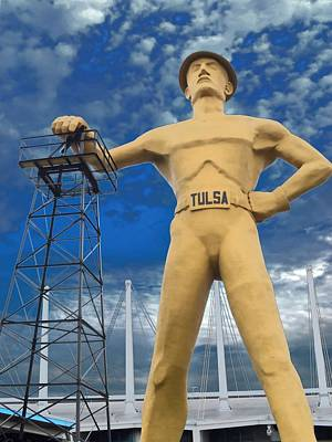 The Golden Driller - Tulsa Oklahoma Poster