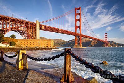 The Golden Gate Poster by Brian Jannsen