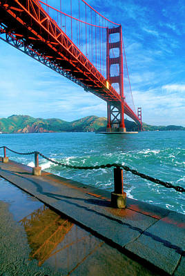 The Golden Gate Bridge And The Entrance Poster by John Alves